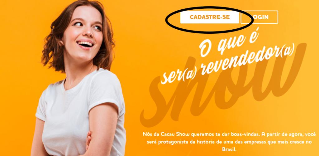 revender cacau show site